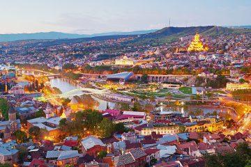 Tbilisi panorama, Georgia