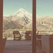 View from Kazbegi Rooms Hotel